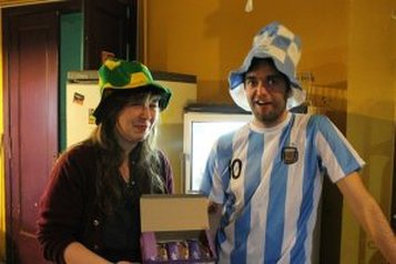 I showed my support for Argentina by wearing a comical hat
