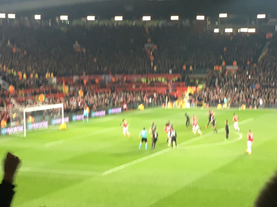 I decided to take a picture of the penalty, forgetting that humans celebrate when a goal is scored. Thus, we are left with a very blurry image.