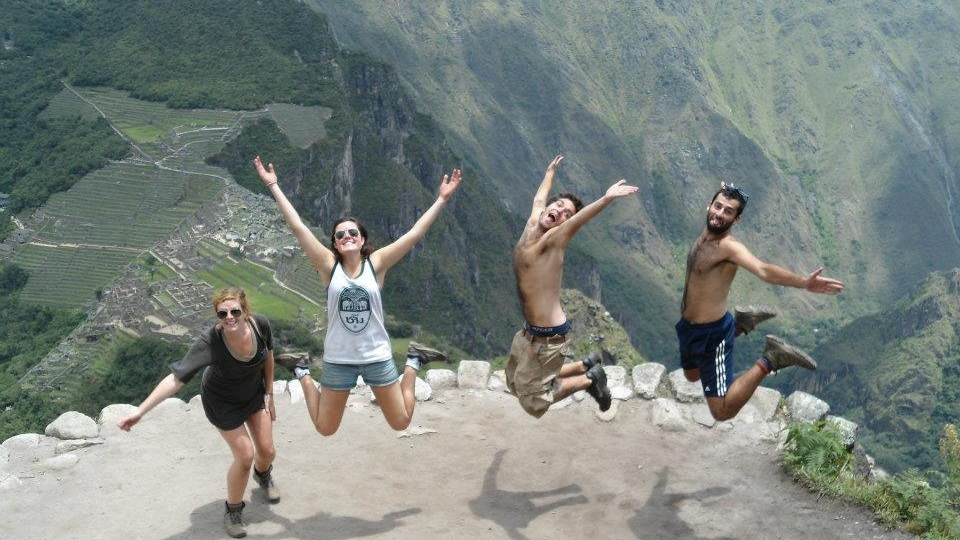 Better synchronised jumps in Peru. There, unfortunately, is always one.