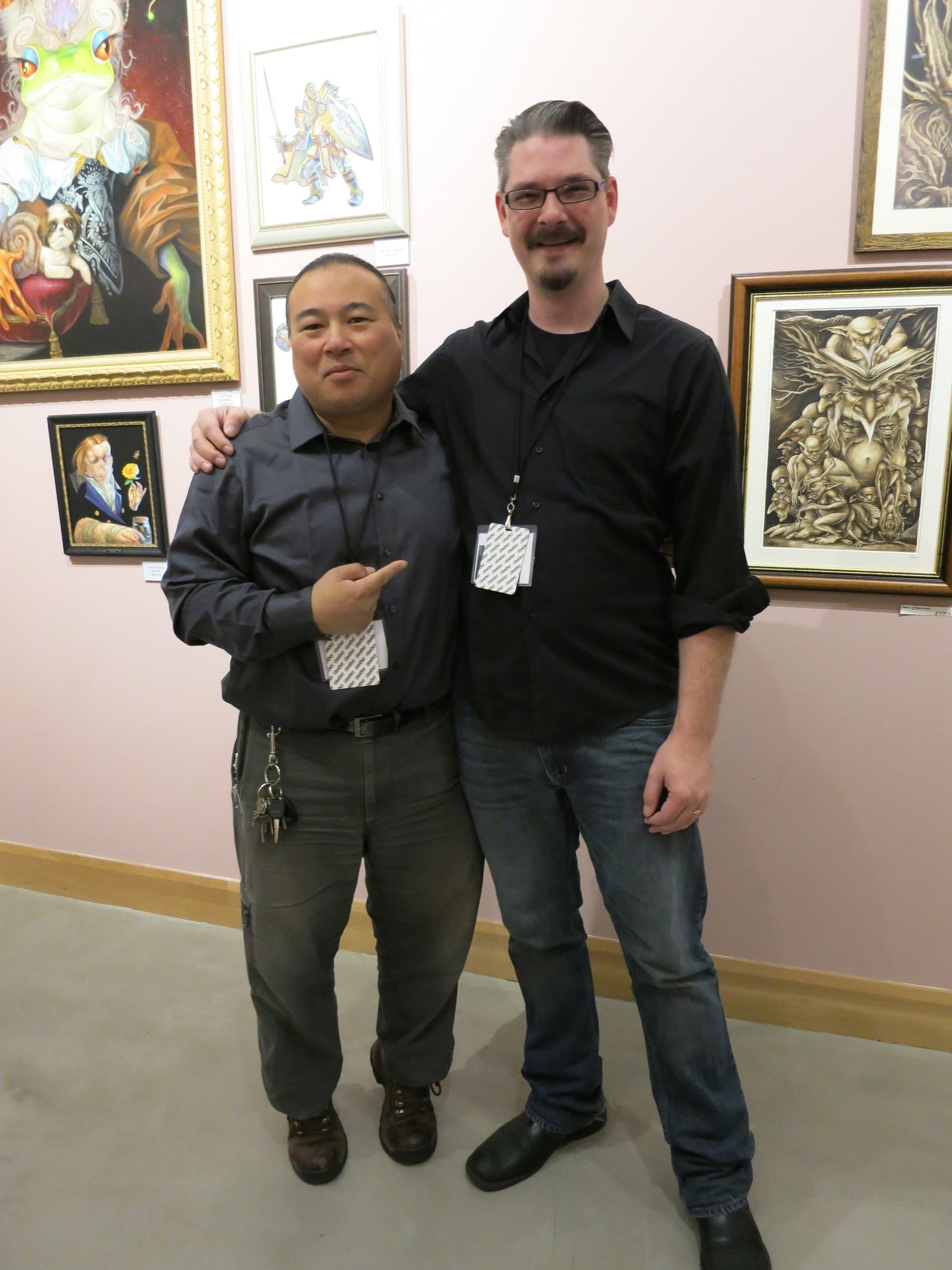 Myself with the amazing artist Travis Louie