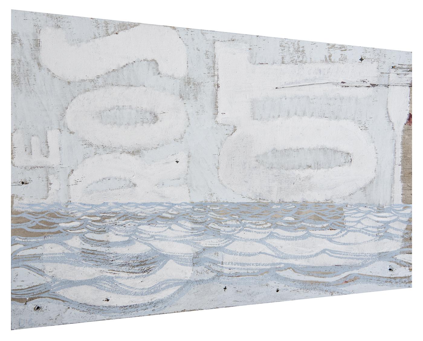 Le Gros Lot  2014 · 28 x 22 cm · Gouache on sign
