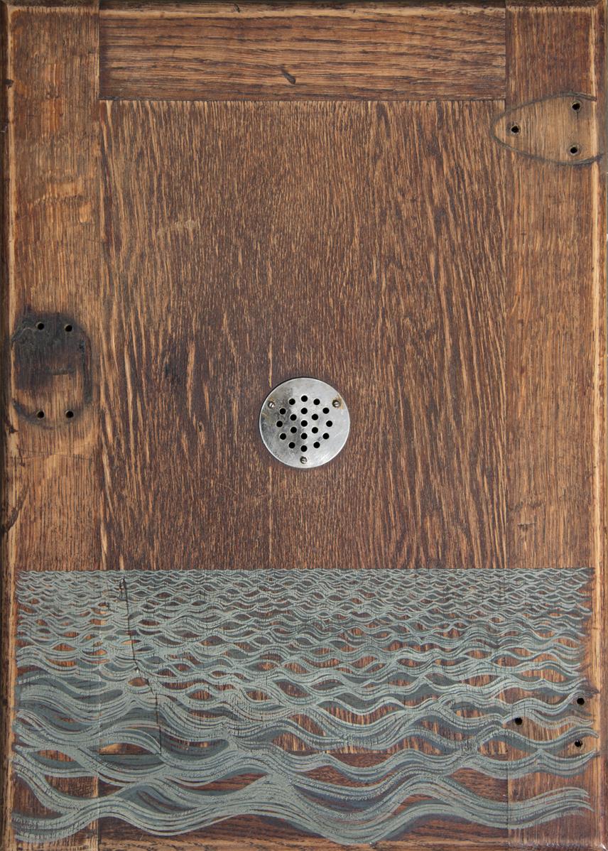 Stefantiek I  2016 · 38 x 53 cm · Gouache on dry-goods cupboard door
