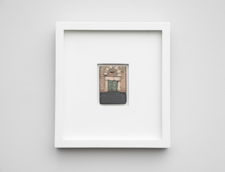 David Cass: La Porta d'Acqua Temporanei • Florence in Flood 1966 • Gouache on paper on wooden offcut