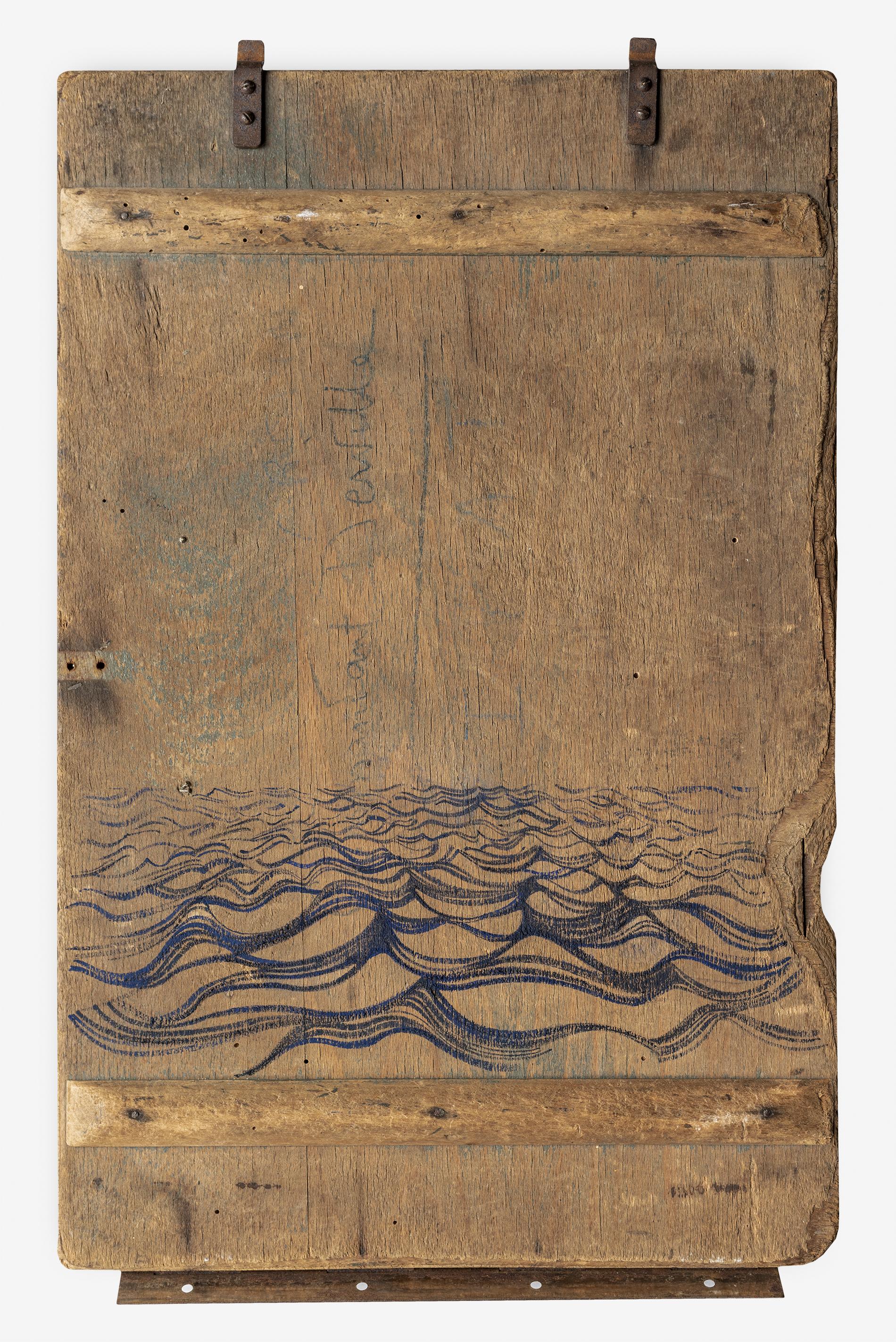Stefantiek II  2018 27 x 42 cm · Gouache on box-lid (treated)  Reserve: info@davidcass.art