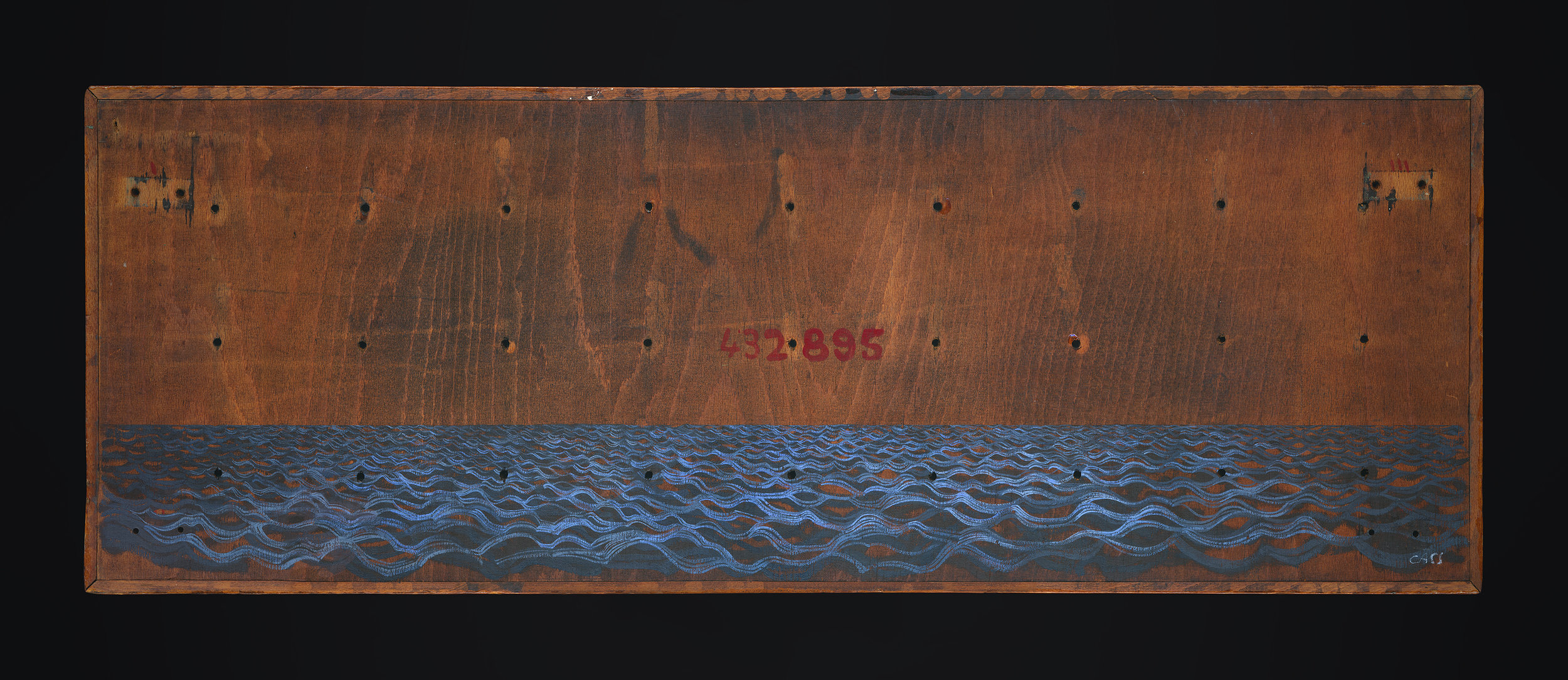 Folds  (re-worked 2018) 94 x 34 cm · Gouache on board