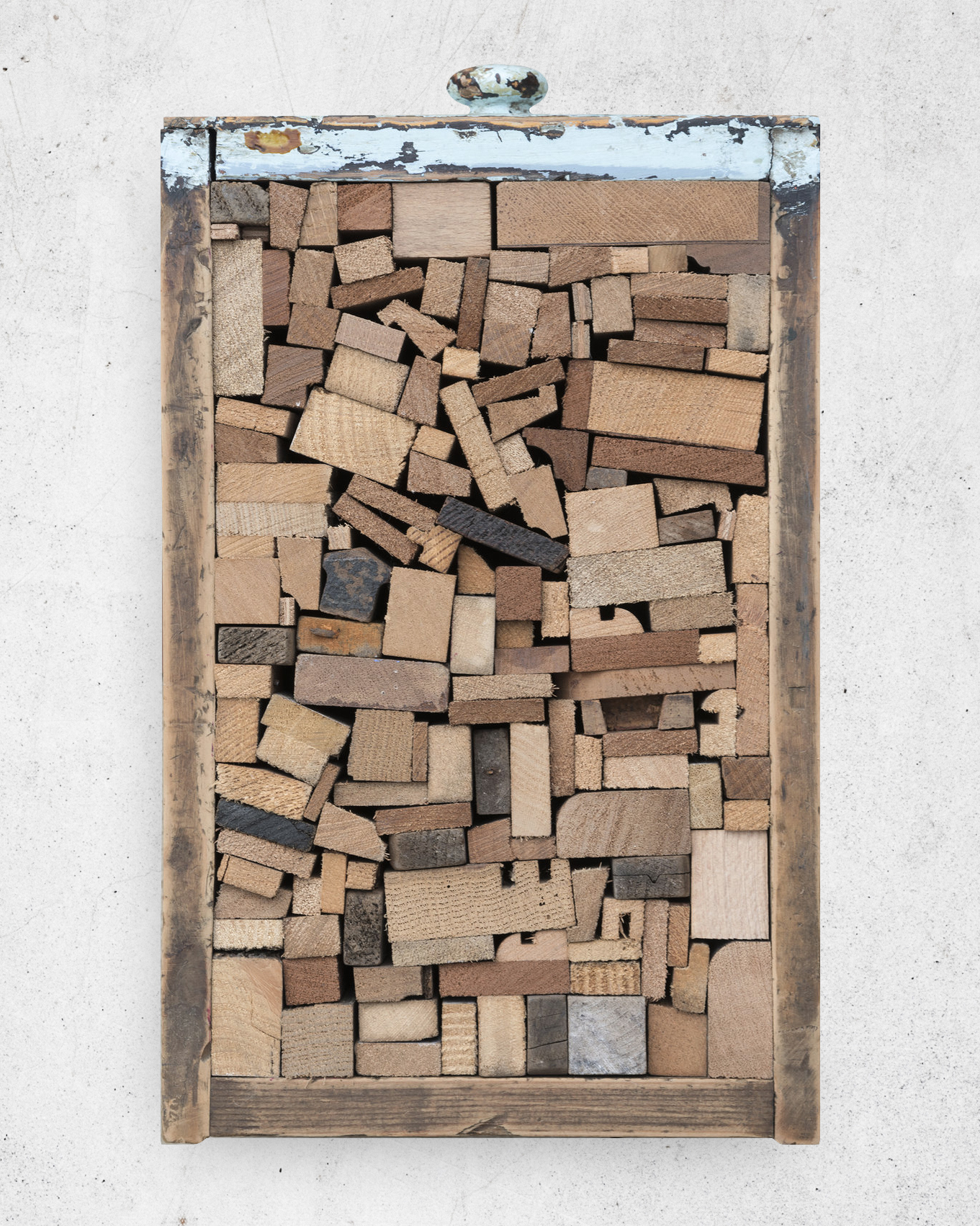 So Many Endings VI  2013–2014 Assorted off-cuts, wooden drawer · 29 x 19 x 11 cm
