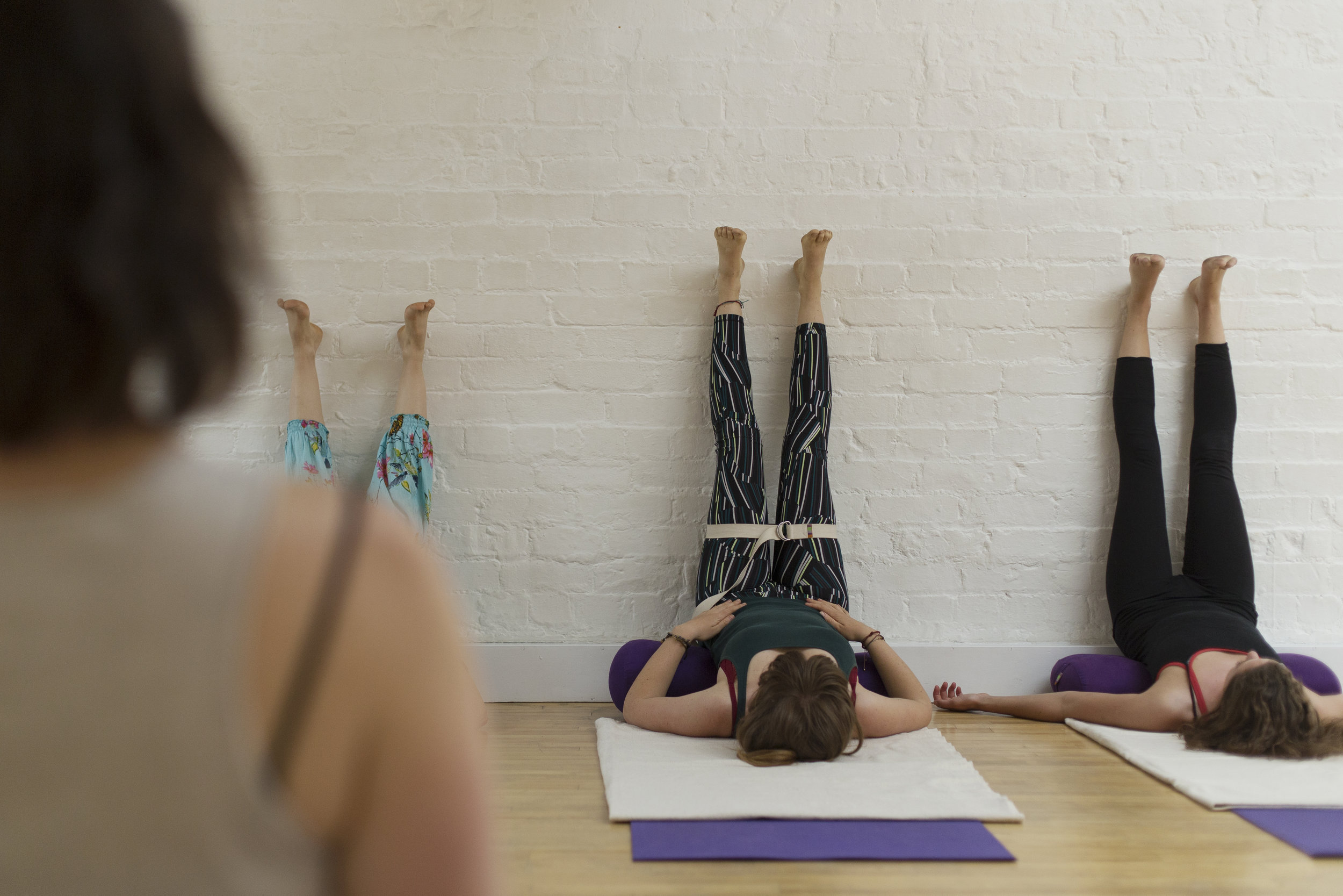 Restorative Yoga - In restorative yoga, we use soothing 'asana' (postures) in which the body is fully supported by props like yoga bolsters and blankets. Many of the poses are performed lying still.This means that rather than having to make an effort, you can sink into the postures to release tension and achieve deep relaxation.