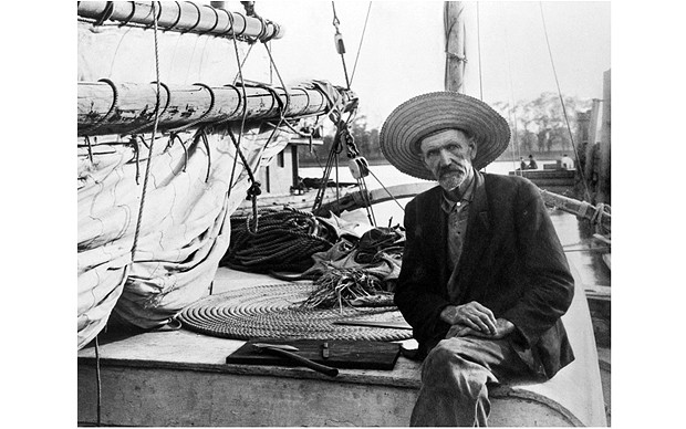 Joshua Slocum  was the first man to sail around the world by himself. He protected himself from pirates by spreading carpet tacks on his deck every night before going to sleep.