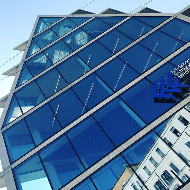 Three years later...Herzog&DeMeuron building is finished  #herzogdemeuron #architecture #design #blue #house #glass #concrete  @lauraksundin @erica_shortsteps