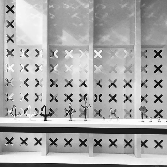Graphics/walls/taps  Salone Milano  #salonedelmobile #bathroom #graphicdesign #wall #pattern #bw #design #architecture #archilovers