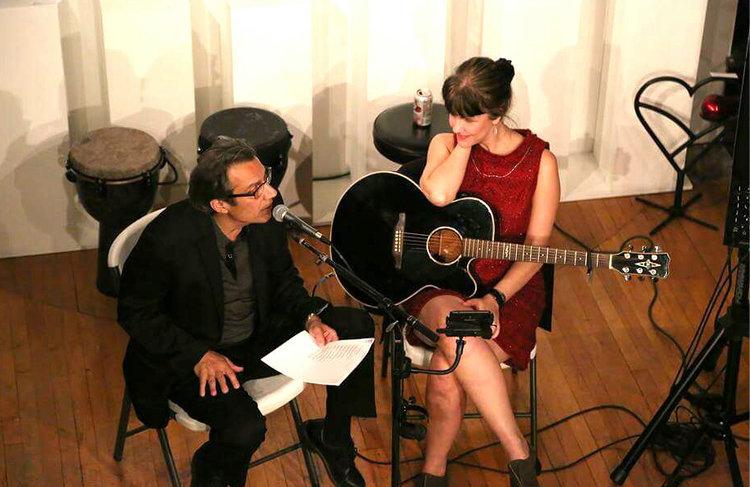 Poet Perry Nicholas and singer/songwriter Maria Sebastian