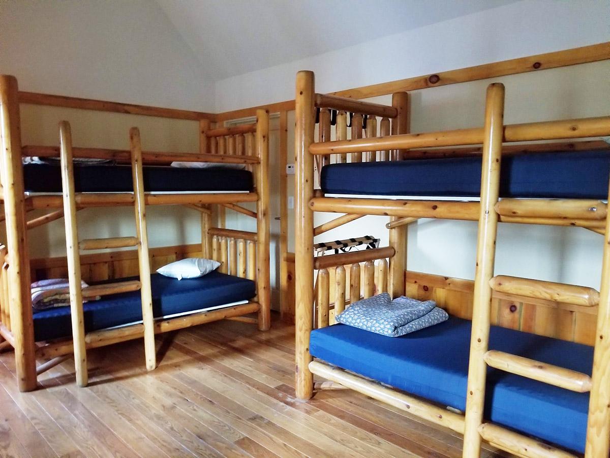 Bunkbeds feature reversible (soft/firm) mattress