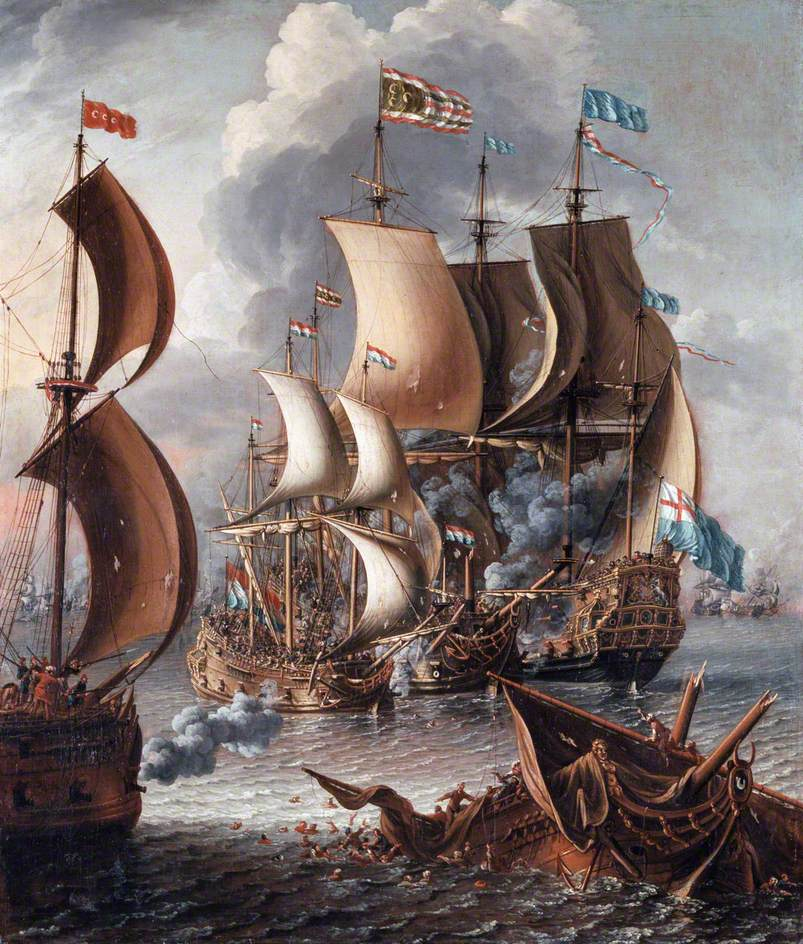 Laureys a Castro – A Sea Fight with Barbary Corsairs. Wikimedia Commons, public domain