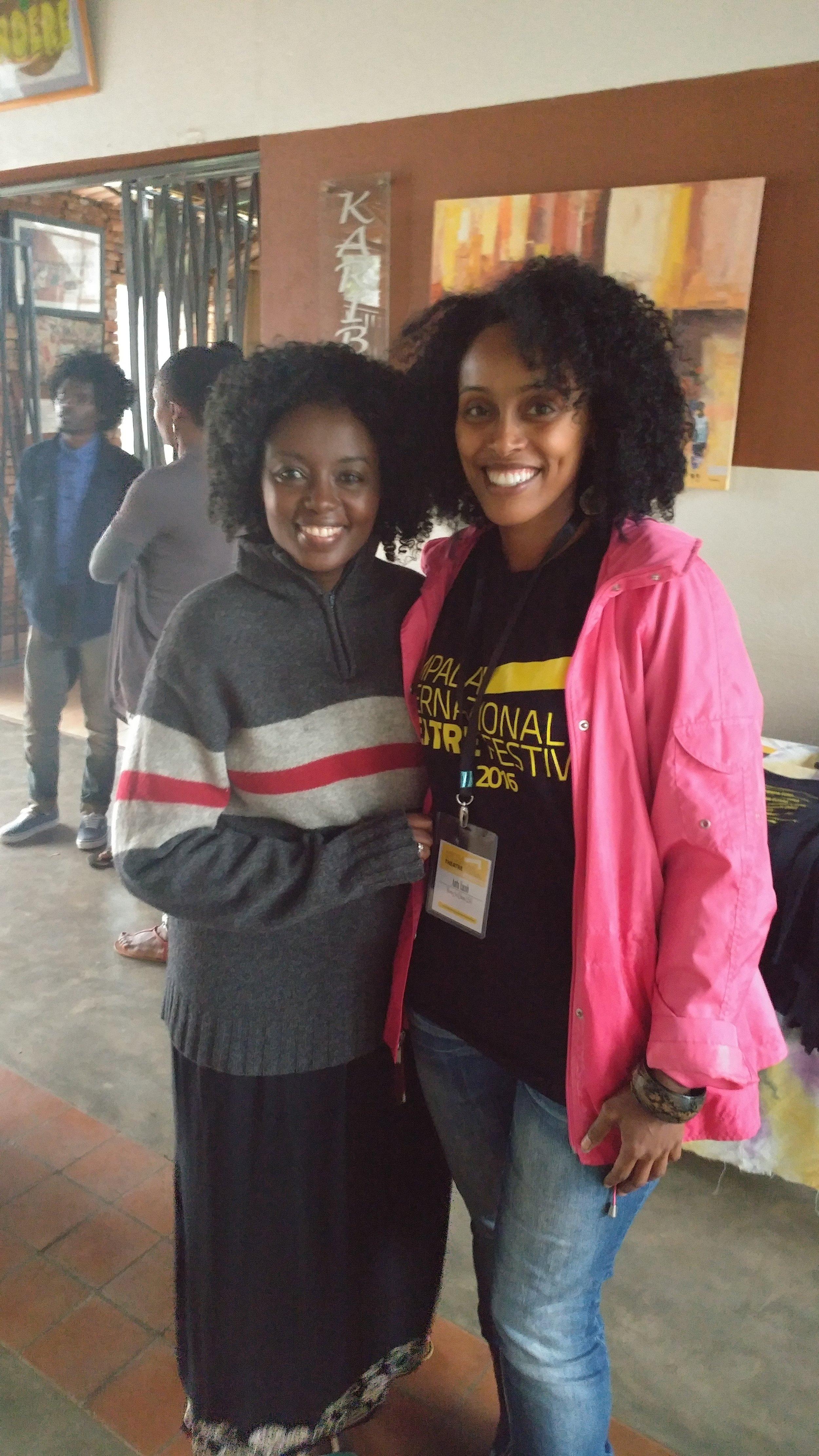 Antu with festival director Asiimwe Deborah Kawe