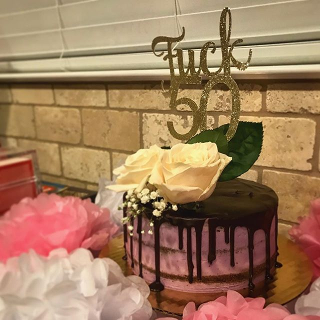 A special cake for a special lady! A day late in honor of #nationalcakeday 🙈 . . . #chocolatelavender #dairyfree #glutenfree #vegan #veganbaking #plantbased #dripcake #nakedcake #letthemeatcake #harlowsvegancupcakes #birthday #crueltyfree #vegandessert #vegancake #vegantreats