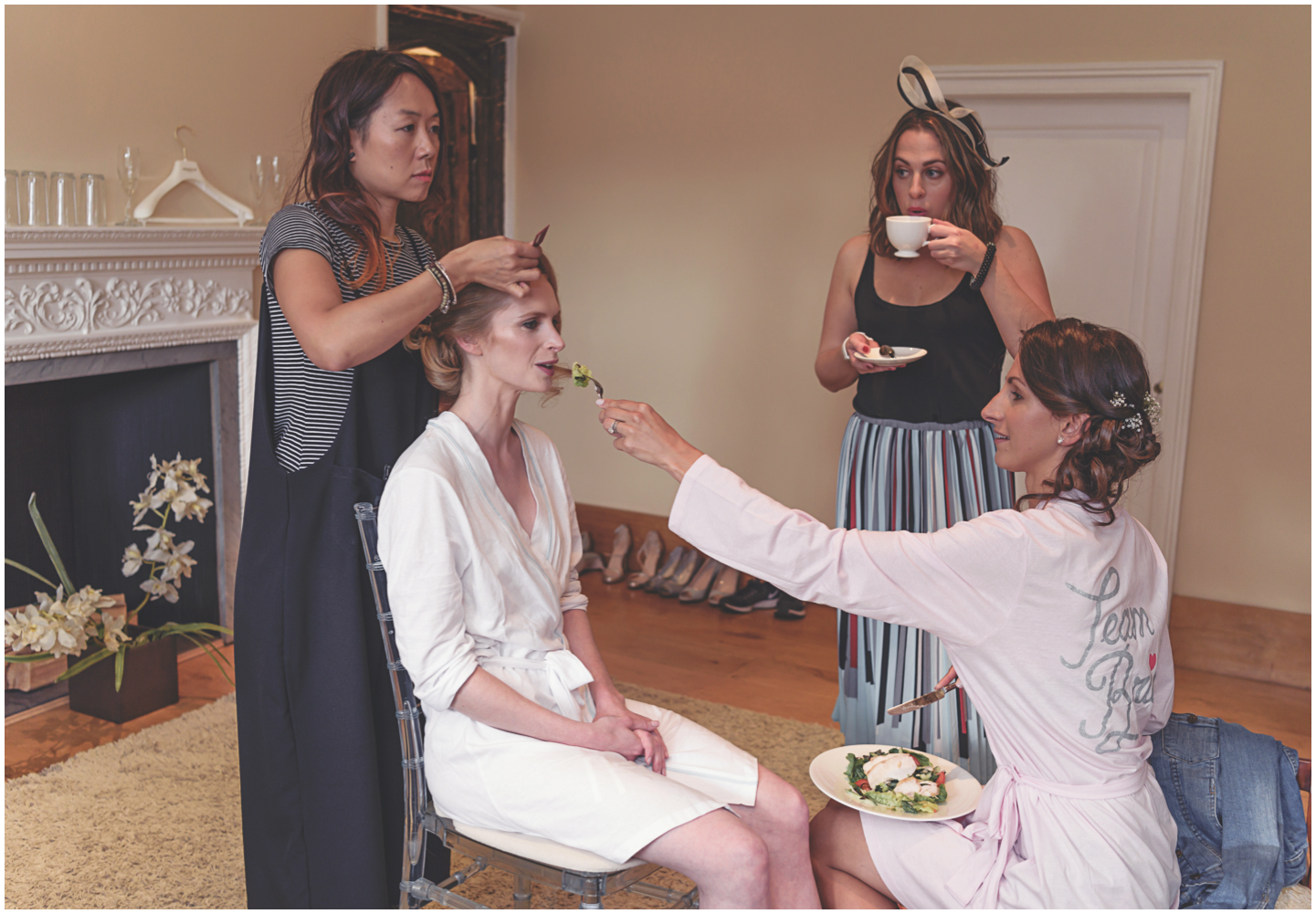 Make sure the bride eats - we don't want her fainting during the ceremony!