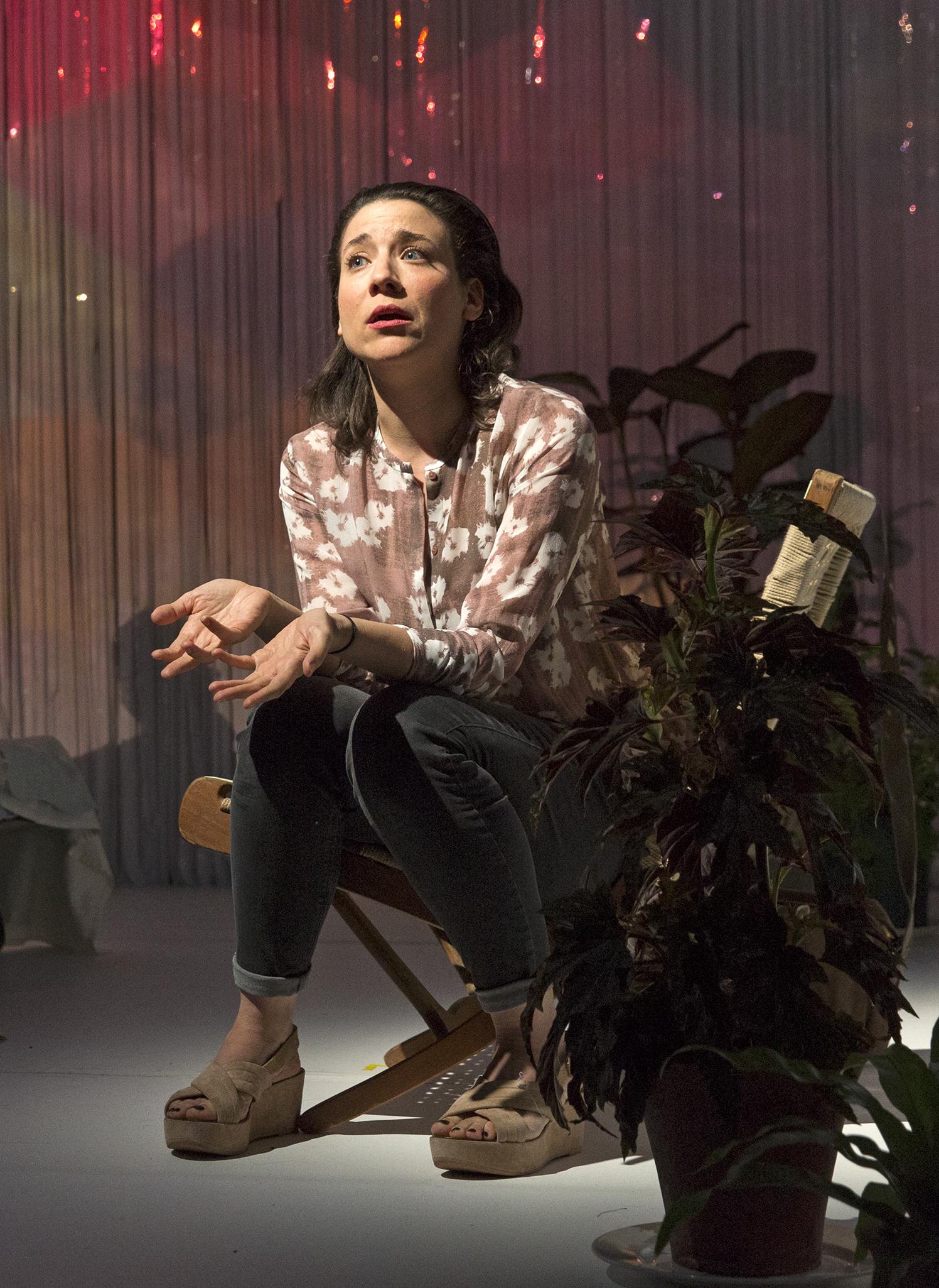 Irene Lucio in The Undertaking. Photo by Richard Termine.