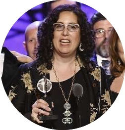 Octopus Theatricals founder Mara Isaacs accepting the 2019 Tony Award for Best Musical for  Hadestown.