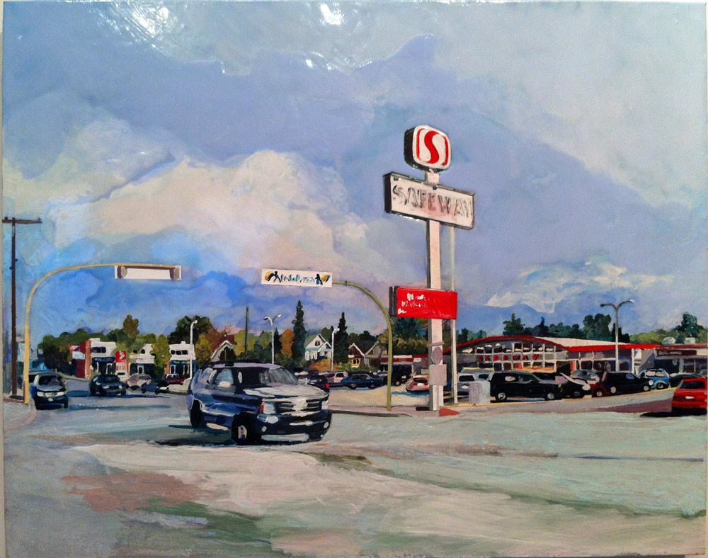 13th Ave. Safeway, Acrylic/Canvas, 2012