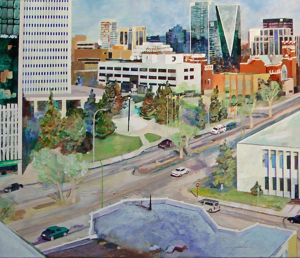 City Hall, Acrylic/Panel, 2011