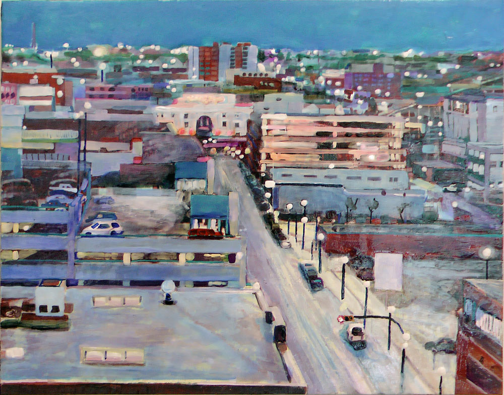 Early Evening Rose St., Acrylic/Panel, 2011