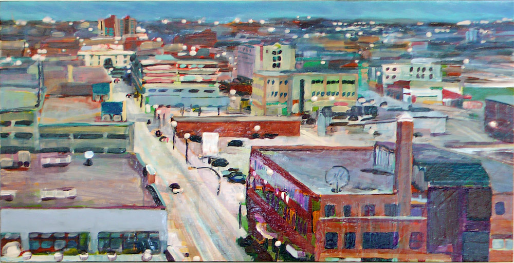 Long View Rose St, Acrylic/Panel, 2011