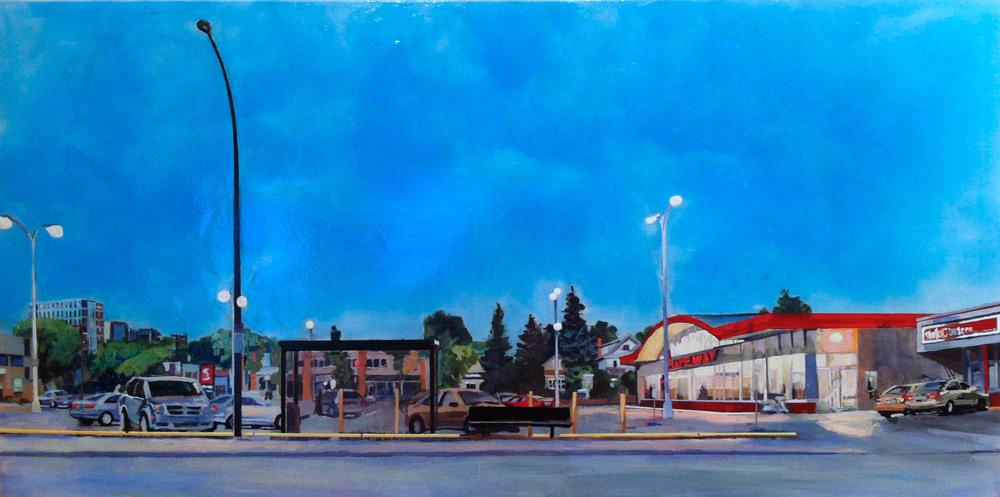 Safeway at Dusk, Acrylic/Canvas, 2012