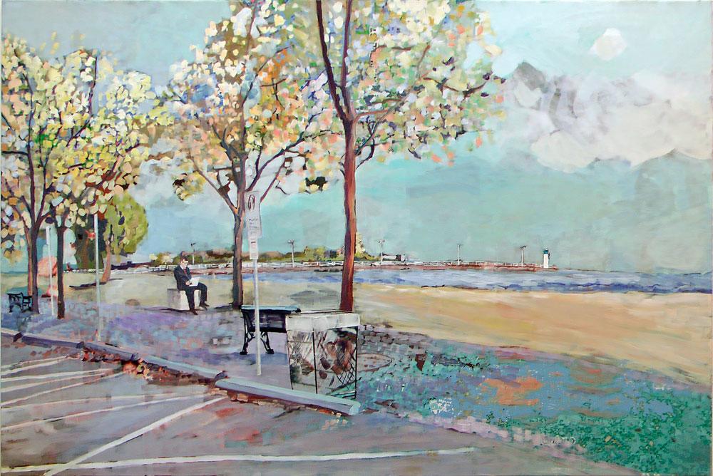 "At the Lakeshore, 40"" x 60"", 2012"