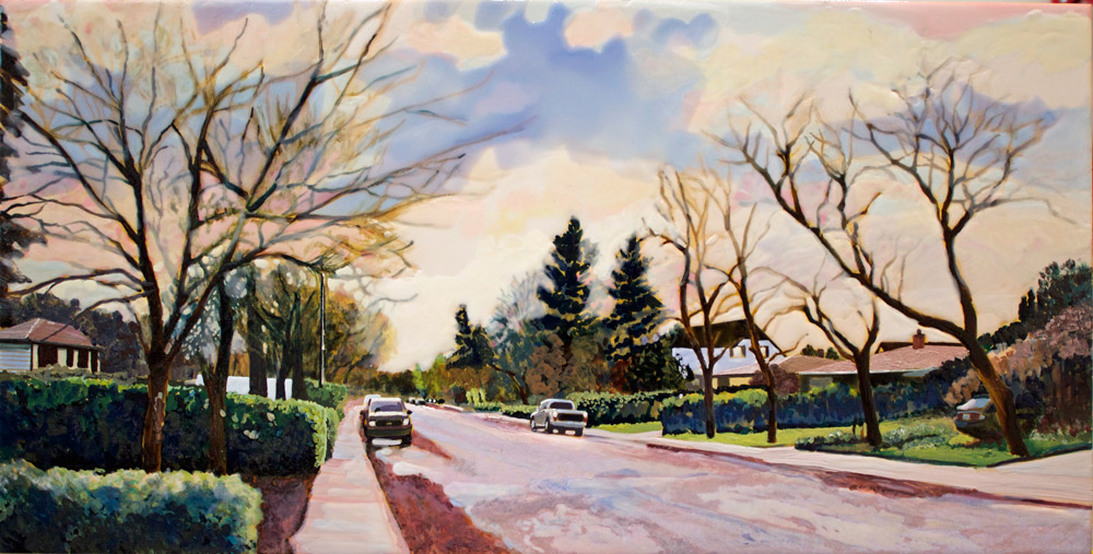 "Neighbourhood for C.R. Regina Autumn, 10"" x 20"", 2015"