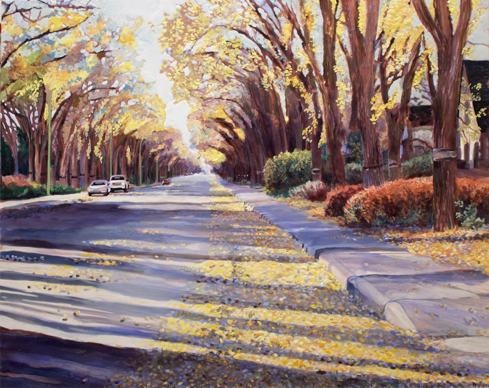 "Late Afternoon Regina Ave., 30"" x 40"", Acrylic/Panel"