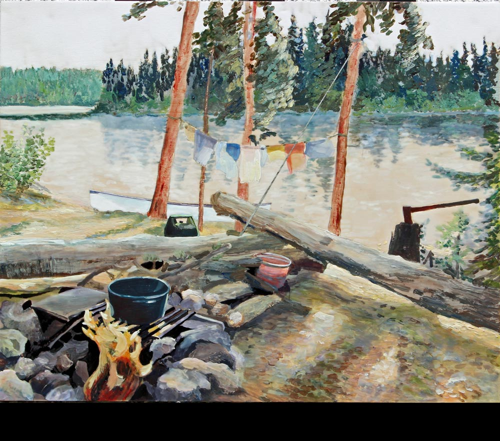 """The Best Camp Site Ever, 16"""" x 20"""", 2016"""