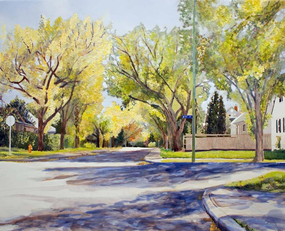 "Urban Forest - Transition, 24"" x 30"", 2015"