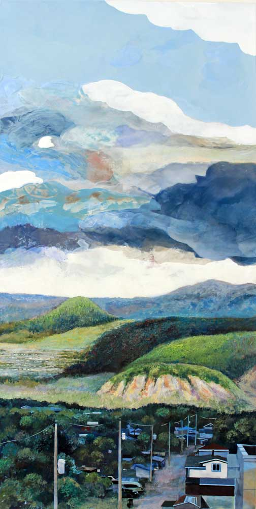 "Day 2 View to the Hills, 48"" x 24"" Acrylic Panel"