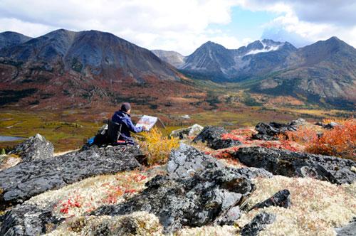 Painting in the Yukon