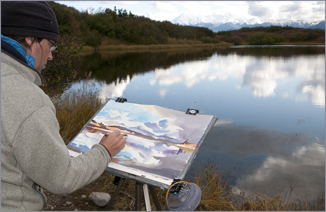 Painting Mirror Lake
