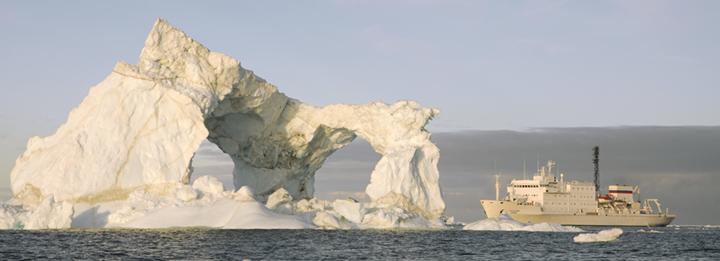 Akademik Ioffe near Ilulissat, Greenland.