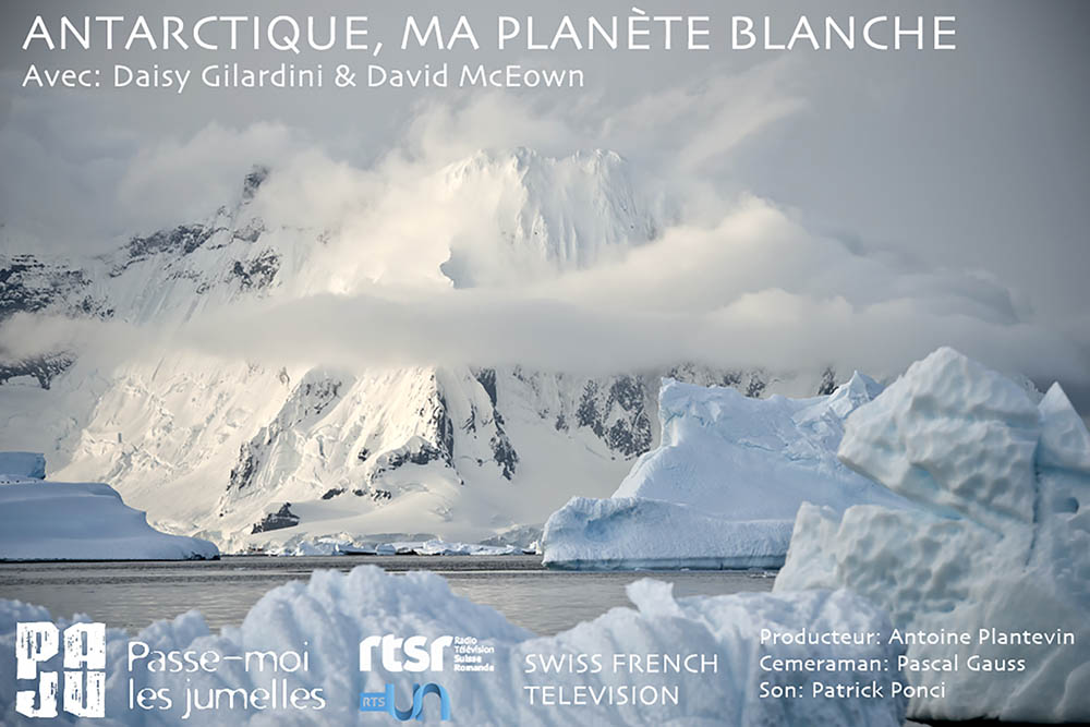 """The documentary """"Antarctica, my white Planet"""" featuring David an"""