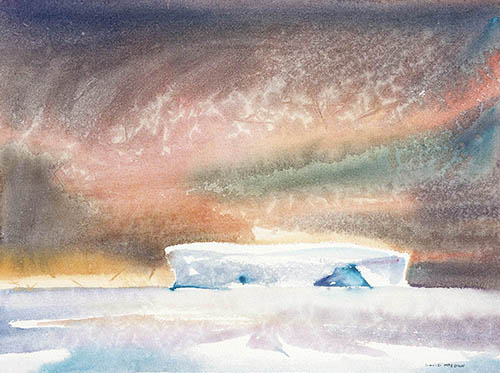 In the ice n.2 - East Antarctica, 10in. x 15in, watercolor