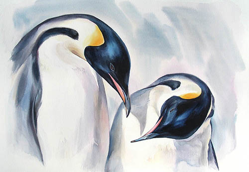 Courting n.2, 15in. x22in. watercolour