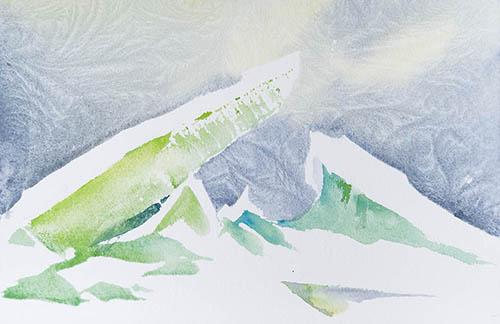 Pressure Ridges n.4, 7.in x 11in. watercolour
