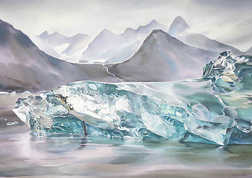 Greenland Ice n.1, 22in. x30in. watercolor