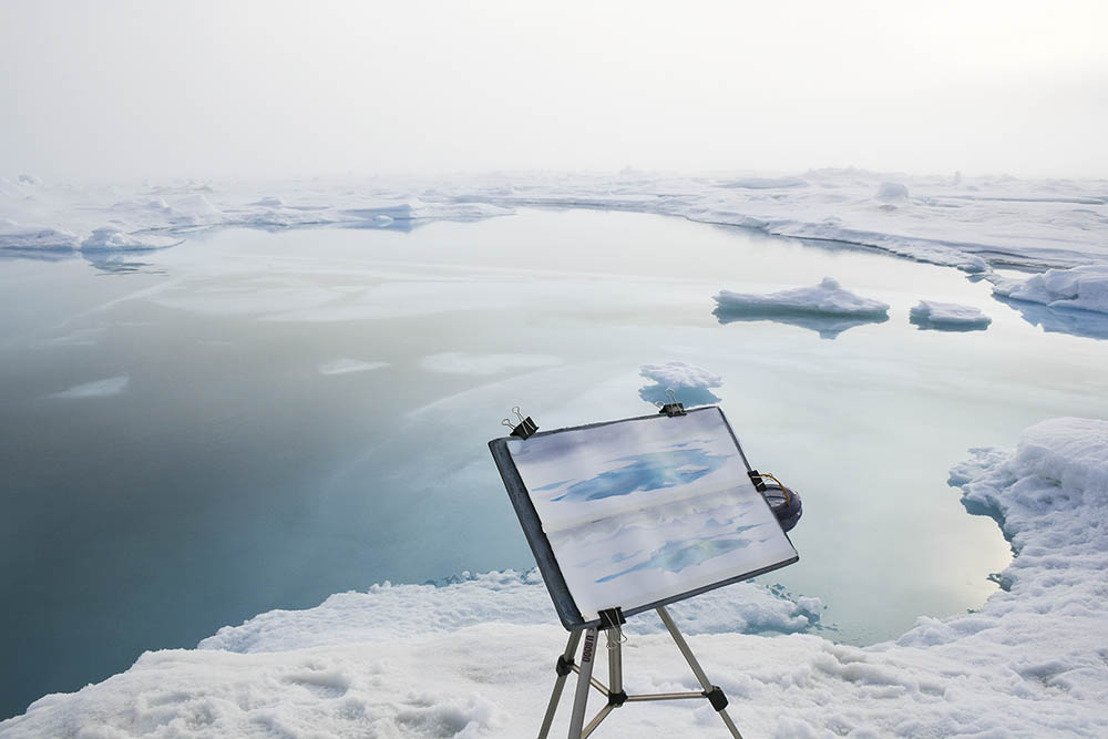 Painting in July at the North Pole