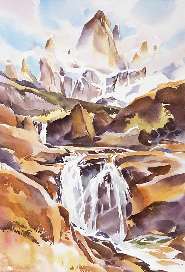 Cascades, Mt . Fitz Roy (available for sale)