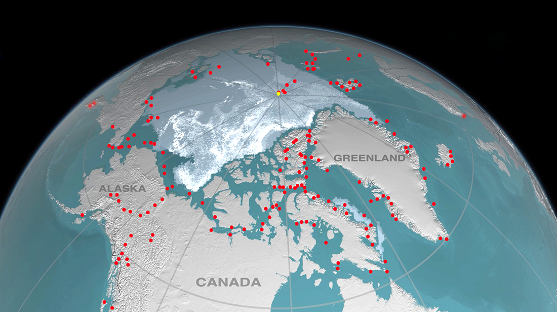 Painting locations in the arctic by David McEown