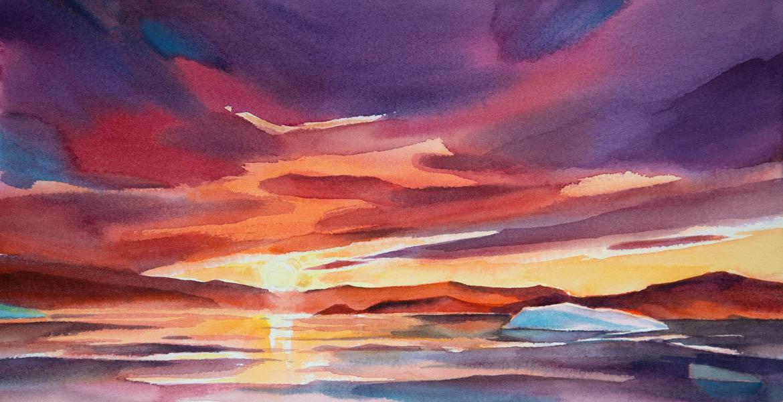 Sunset n.1, Frobisher Bay (sold)