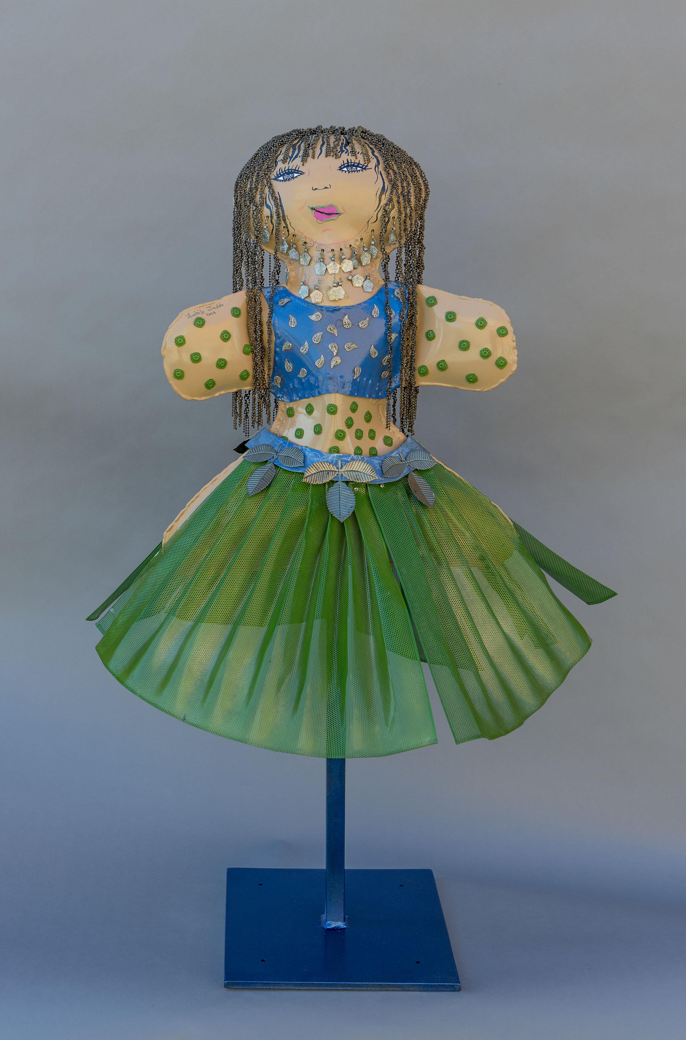 """""""Dancer"""", 2015, 4' tall, blown metal"""
