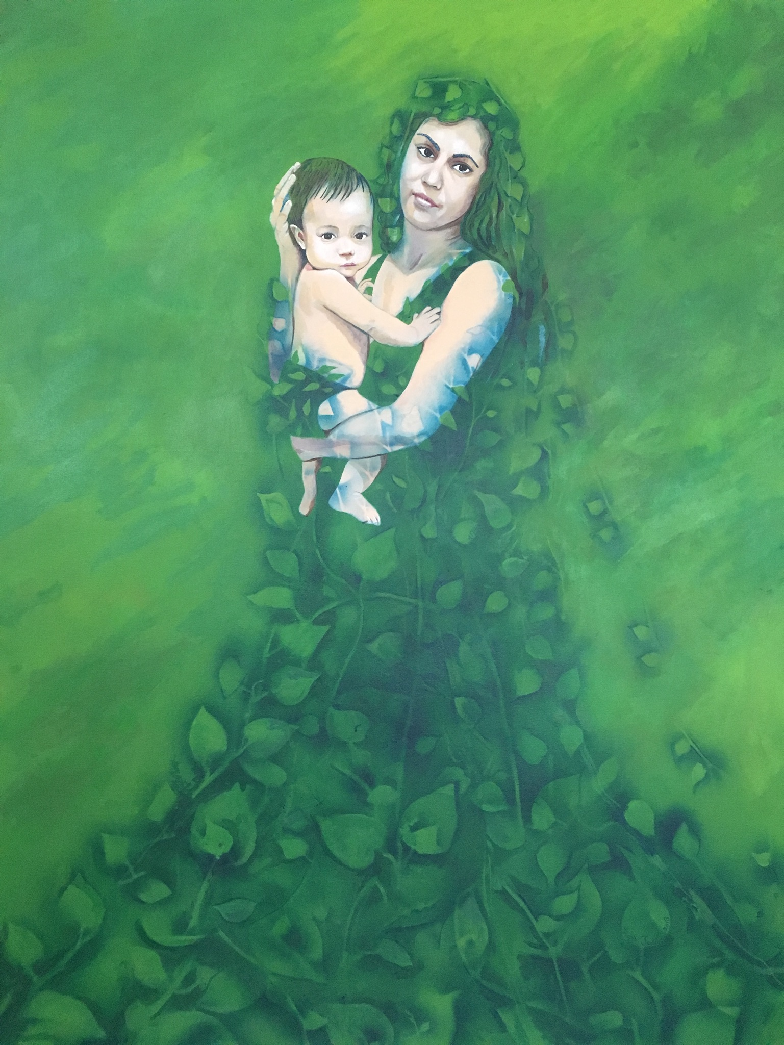 """Mother and Child"", 2018, 5'x4'"