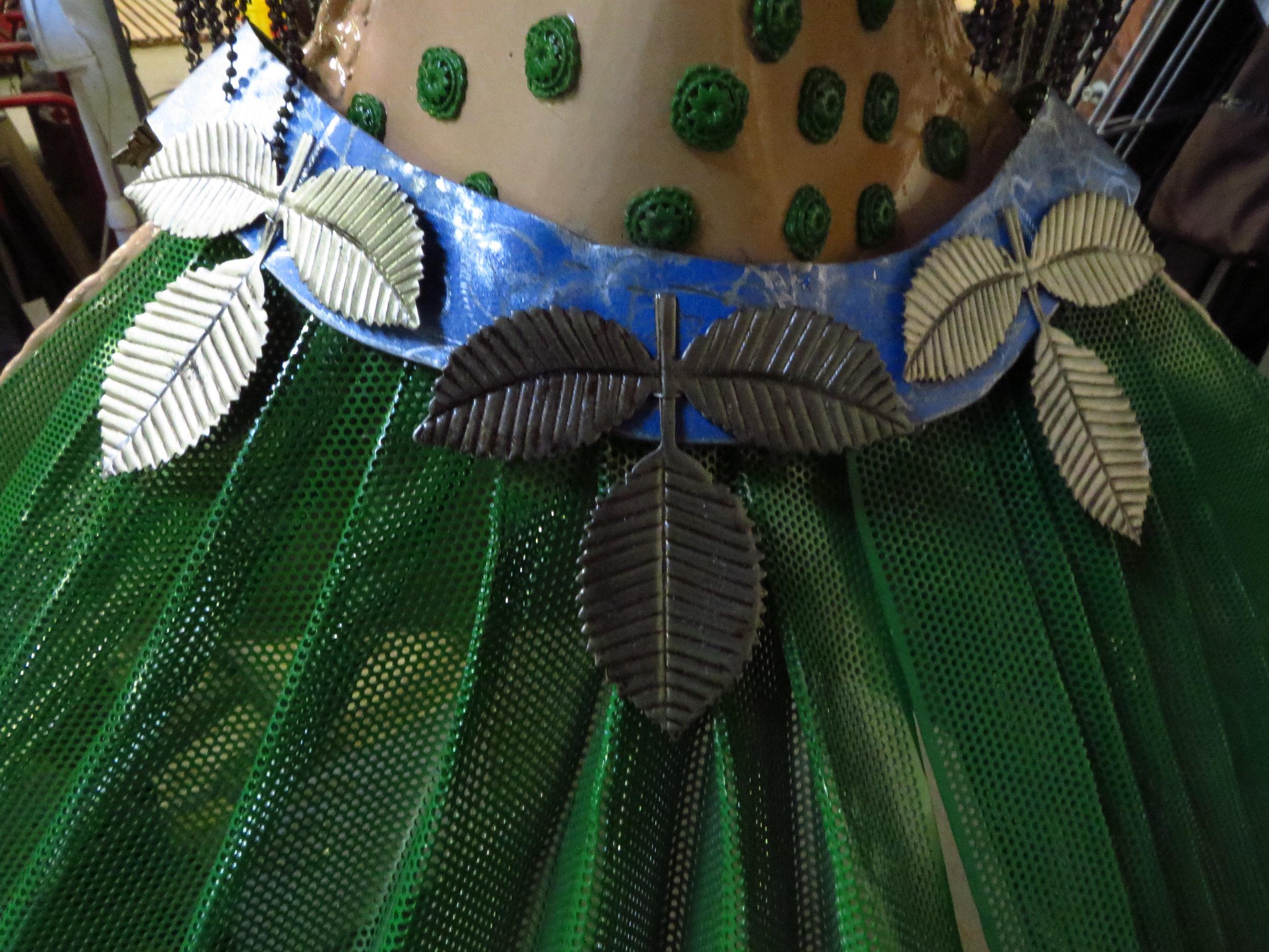 """Detail of belt for metal sculpture""""Dancer"""""""