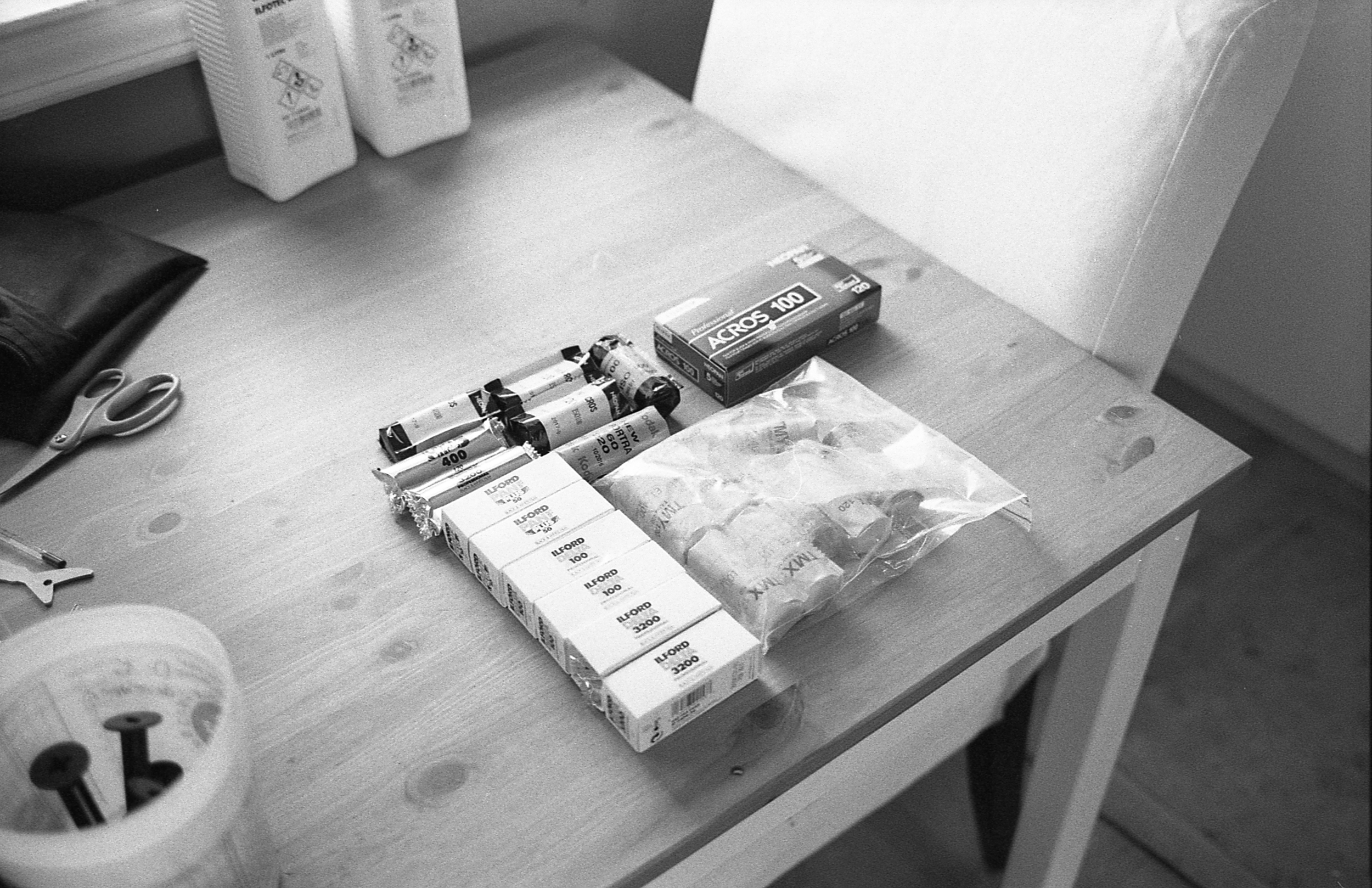 film goodness. Expired Tmax was given to me (I'll always accept and shoot free film) Ilford and Acros 100 are my two favorite b&w films.