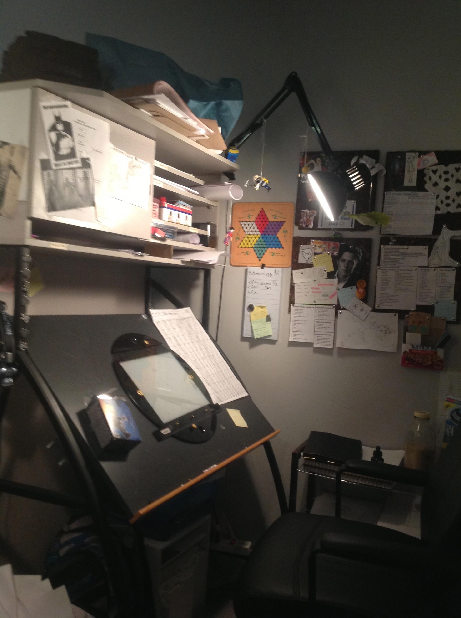 Classical Animation Desk, VFS Classical Animation Program 2012